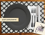 Playful Plaid Placemat